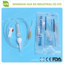 Conjunto de transfusão de sangue mais barato fabricado na China 2016 CE ISO