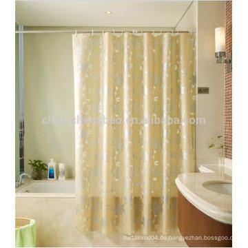 Peva druckte gelbe Badewanne Duschfenstervorhänge