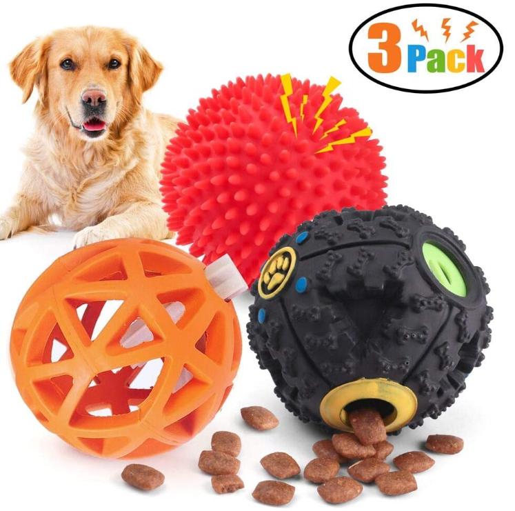 Dog Treat Dispenser Toy Ball