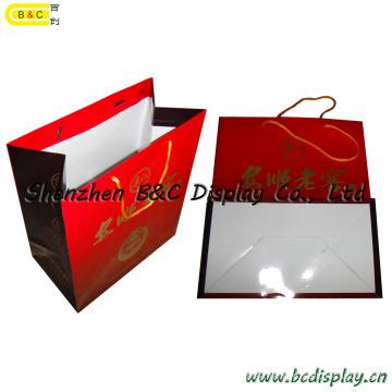 Customizable Shopping Gift Packaging Paper Bags, Wine Bag, Wine Tote, Paper Handbag, Arm in Arm Lag Paper (B&C-I026)