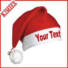 Promoción de paño grueso suave Festival de Navidad Santa Hat