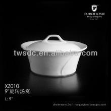 Hôtel Grand porcelaine soupière avec couvercle XZ010