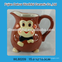 Ceramic big milk jug with monkey design