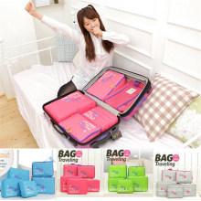 Organisateur de sac de rangement de voyage en nylon portatif de Fahison Styles (SR4156)