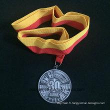 Médaille d'alliage Znic personnalisé pour 30 Jahre ancienne médaille de Nicke
