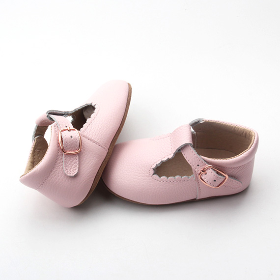 Wholesale leather pink baby dress shoes