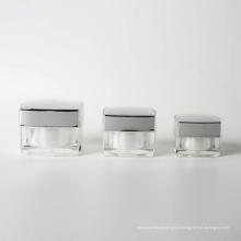 15g 30g 50g plástico quadrado acrílico jar (EF-J40)