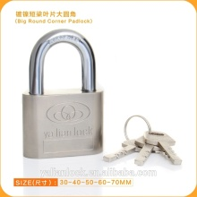 Hot Wholesale Big Round Corner Padlock With Vane Key