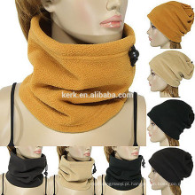 Snow-flor padrão knitted velo fleece tubo lenço lenço pescoço aquecedor