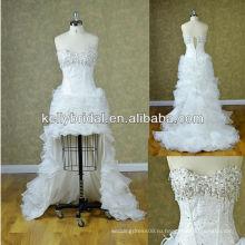 Высокий-низкий 2014 сексуальное свадебное платье