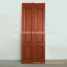 Lujoso interior de madera, puerta de madera maciza, tablero de madera de la articulación del dedo con chapas de roble, color rojo, puerta plegable para el apartamento