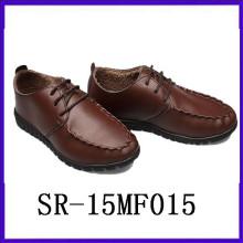 Vintage wear leder schuhe round-toe men schuhe mem footwear