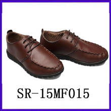 vintage wear leather shoes round-toe men shoes mem footwear