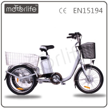MOTORLIFE/OEM brand EN15194 36v 250w electric bike made in china,triciclo pedal adultos