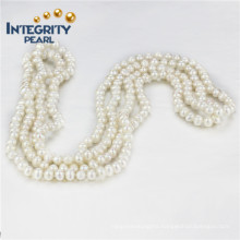 """Freshwater Pearl 5mm a+ 60"""" Potato Long Inch Pearl Necklace"""