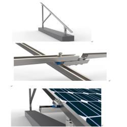 Double Roll C Section Steel PV Bracket