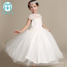 nuevo vestido de bebé diseño 2017 vestido de niña de 9 años vestido largo vestido de novia de gasa de la flor
