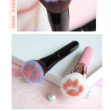 Pink Black  Cute Cat Paw Foundation Brush