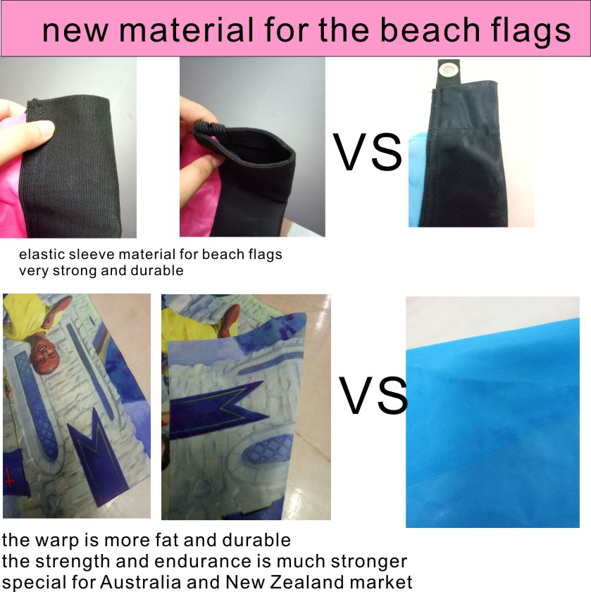 New Fabric Material For Beach Flags