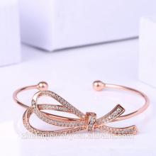 chine OEM usine rose or plaqué bracelet noeud forme bijoux