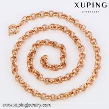 43050 Xuping 2016 collier de vente chaude de couleur or rose chaud