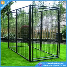 Clôture soudée de chien de fil / grande cage extérieure portative de chien