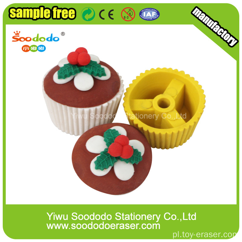 3D Cute Snowman Cake Shaped Eraser
