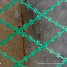 Fil de rasoir soudé par fil de Concertina enduit par PVC de haute qualité