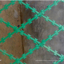 Высокое качество ПВХ покрытием колючая проволока сварные колючей проволоки
