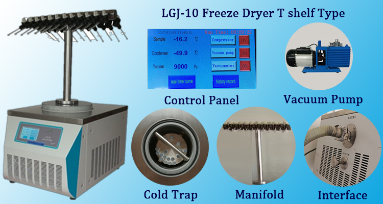 LGJ-10 Ttype freeze dryer
