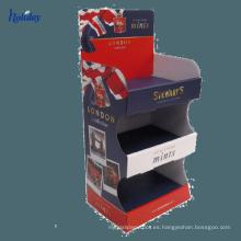 Cajas de presentación de mostrador de cartón de supermercado para libros