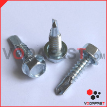 Hex Flange Head Self Drilling Screw Zinc Plated