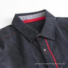 Camiseta masculina respirável dobby interna manga longa de algodão