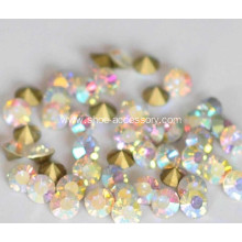 3.3mm Glass Rhinestone AB Color Pointed Rhinestone