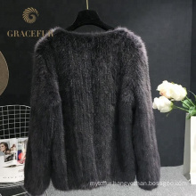 Accept custom order womens real mink fur coat