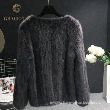 Accept custom order womens real mink fur coat