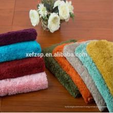 Tapis shaggy en polyester lavable et antidérapant