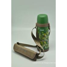 Hohe Qualität 304 Edelstahl Isolierflasche Doppelwand Isolierflasche Svf-600e Grün