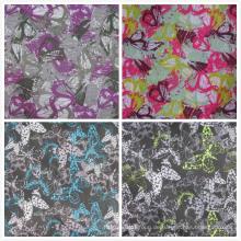 Oxford 600d High Density PVC / PU Butterfly Printing Polyester Gewebe