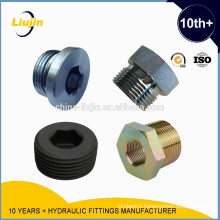JIC, METRIC, BSP female hexagon Hydraulic Nipples