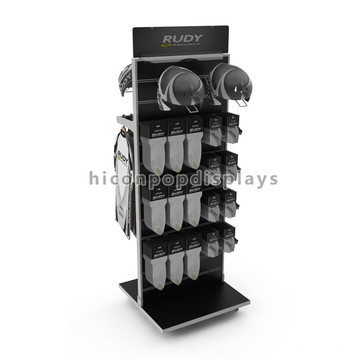 Movable Retail Store Slatwall Holzschutzgerät Handschuhe Display Rack