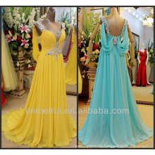 Emerald Green Yellow And Violet Custom Made Floor Length Beaded Spaghetti Straps Real Photos Evening Dress From Dubai DE312