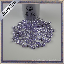 Oval Brilliant Diamond Cut Lavender Color American Diamond CZ
