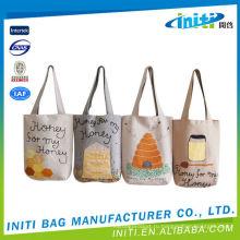 Высокое качество сделано в Китае простой белый хлопок холст большой сумке