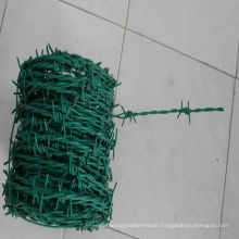 Green PVC Coated 2mm Barbed Wire