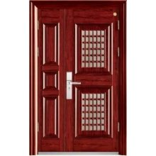 Double Steel Door, Main Door with Small One, Size Can Customize