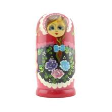 casa de muñecas de madera natural, artículo de madera de la muñeca de la decoración, cabezas de muñecas de madera