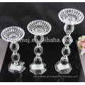 Peças centrais do casamento do candelabro de cristal do assoalho