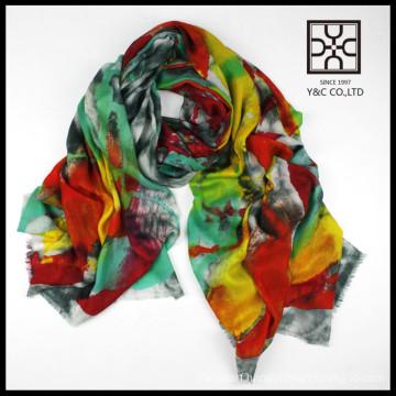 Hot selling new design fashion lady merion wool scarf shawl