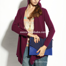 16STC8134 cashmere wool knit long open cardigan